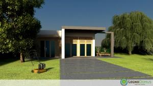 Arnica 113 mq legno domus for Casa moderna un piano